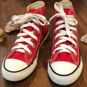 Red and White Youth Converse